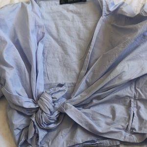 Crop blue blouse